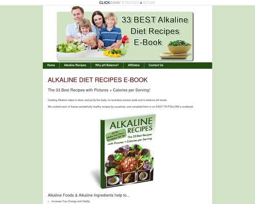 Alkaline Diet Recipes - The 33 Best Recipes With Pictures & Calories