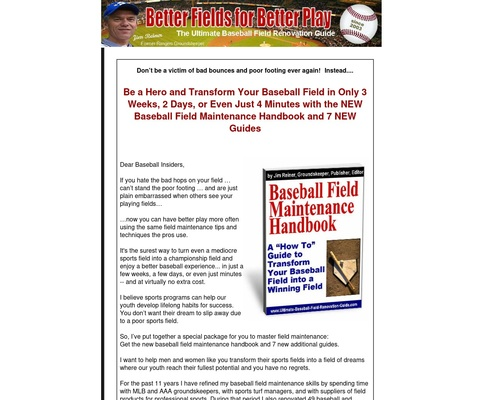 Transforming Your Baseball Field Into A Winning Field