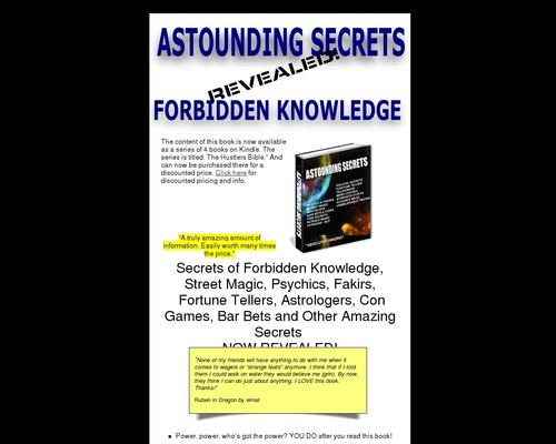 Amazing Secrets And Forbidden Knowledge