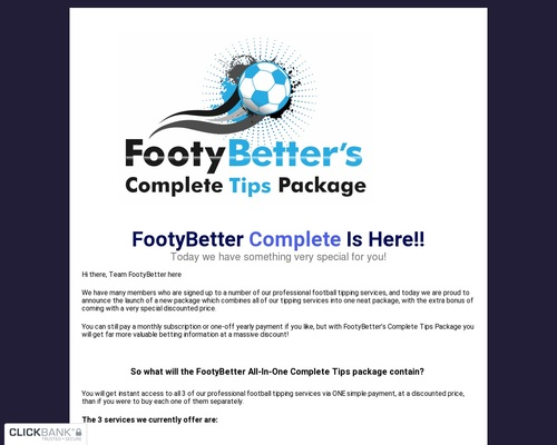 Footybetter Complete